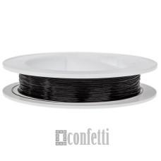 Ювелирный тросик (ланка) черный 0,38 мм