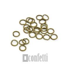Колечки соединительные 7*1 мм бронза (10 шт)
