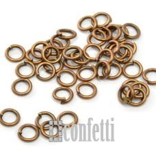 Колечки соединительные 6 мм медь (10 шт)