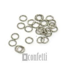 Колечки соединительные 8 мм серебро (10 шт)