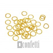 Колечки соединительные 4 мм желт.золото (10 шт)