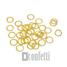Колечки соединительные 6 мм желт.золото (10 шт)