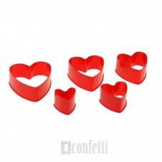 """Набор форм для печенья """"Сердце"""", 5 шт"""