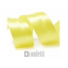 Лента атласная 25 мм, желтая
