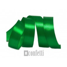 Лента атласная 25 мм, зеленая