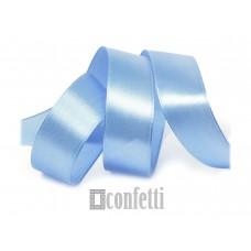Лента атласная 25 мм, голубая