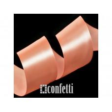 Лента атласная 25 мм, персиковая