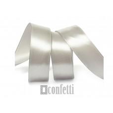 Лента атласная 20 мм, серебро