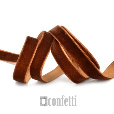 Лента бархатная 20 мм коричневая