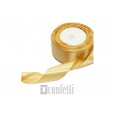Лента атласная 25 мм, золотая
