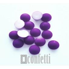 Полубусины 8 мм, фиолетовые, матовые, 10 шт