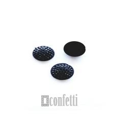 Стразы круглые 12 мм черные