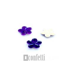 """Стразы клеевые """"Цветок"""" фиолетовые"""