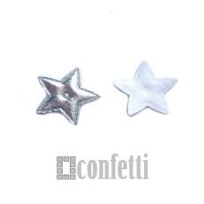 Патч Звезда, 20*20 мм, цвет серебро