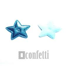 Патч Звезда, 20*20 мм, цвет голубой