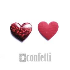 Патч Сердце красное блестящее, 25*23 мм