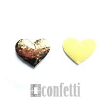 Патч Сердце золотое блестящее, 25*23 мм