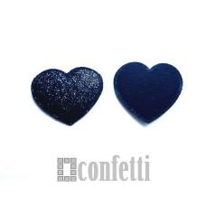 Патч Сердце с блестками, 35*32 мм, черное