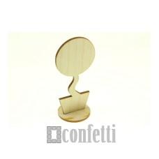 """Заготовка для магнита """"Топиарий"""", круг с подставкой, 10 см"""