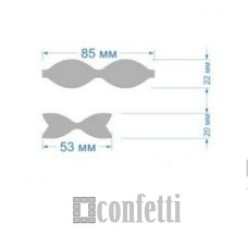 Шаблон для изготовления бантиков, 85 мм