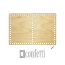 Основание для корзин прямоугольное на 2 секции 300*200 мм